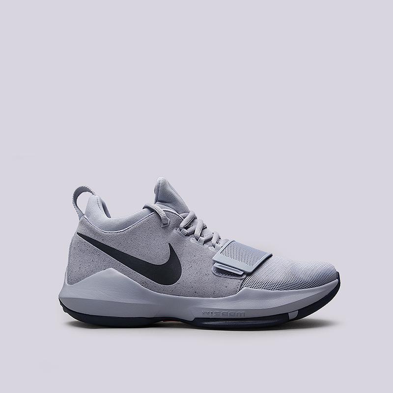 Кроссовки Nike PG 1Кроссовки баскетбольные<br>Кожа, текстиь, резина, пластик<br><br>Цвет: Голубой<br>Размеры US: 11.5<br>Пол: Мужской