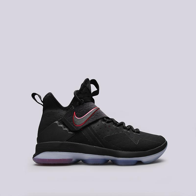 Кроссовки Nike Lebron XIVКроссовки баскетбольные<br>Кожа, текстиль, резина, пластик<br><br>Цвет: Черный<br>Размеры US: 7.5;8;8.5;9;9.5;10;10.5;11;11.5;12;14;15<br>Пол: Мужской