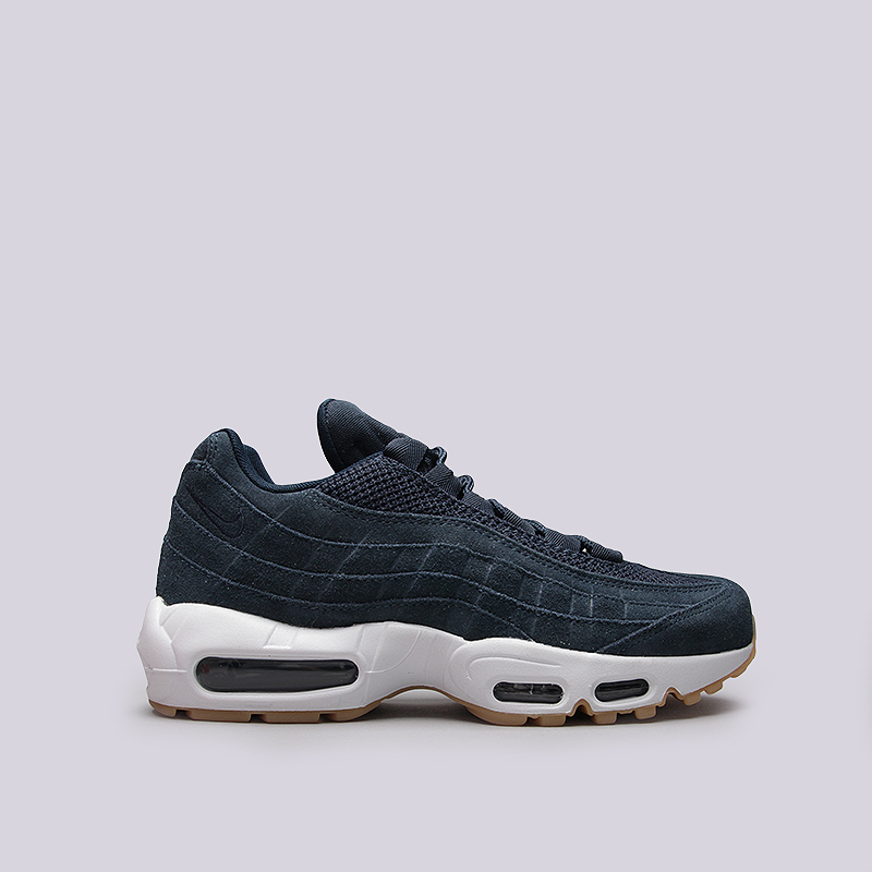 Кроссовки Nike Sportswear Air Max 95 PRMКроссовки lifestyle<br>Кожа, текстиль, резина<br><br>Цвет: Синий<br>Размеры US: 11;12.5<br>Пол: Мужской