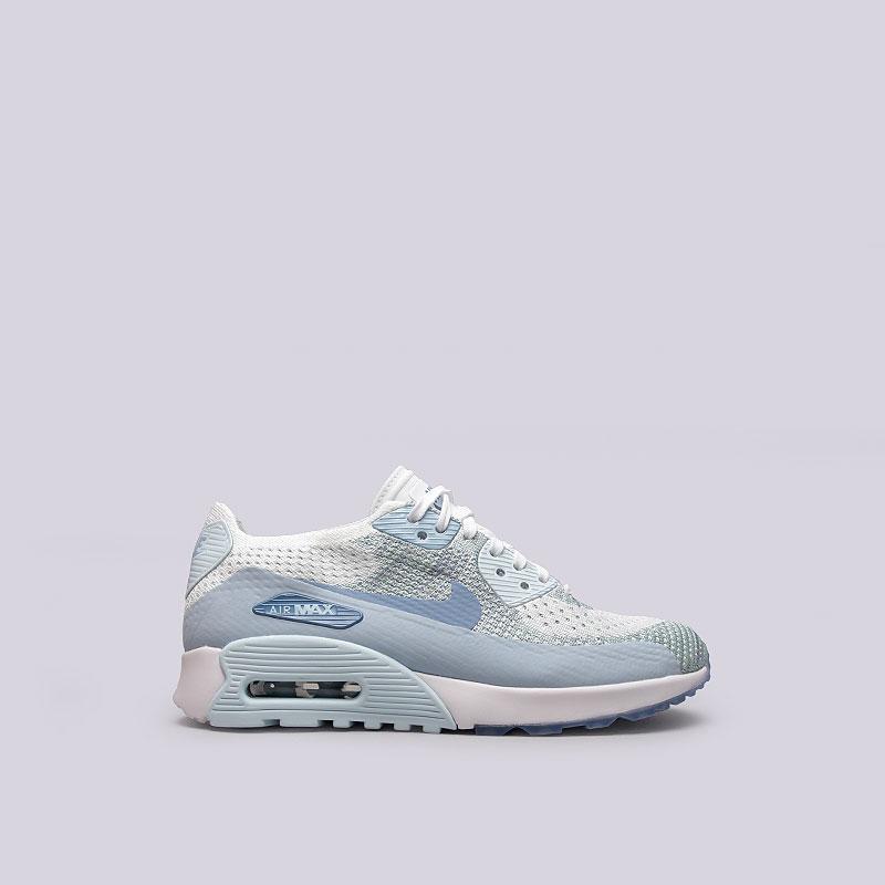 Кроссовки  Nike Sportswear WMNS Air Max 90 Ultra 2.0 FlyknitКроссовки lifestyle<br>Текстиль, резина<br><br>Цвет: Голубой<br>Размеры US: 6;6.5;7.5;8.5<br>Пол: Женский