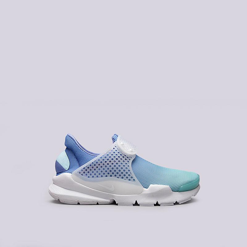 Кроссовки  Nike Sportswear WMNS Sock Dart BRКроссовки lifestyle<br>Текстиль, резина, пластик<br><br>Цвет: Голубой<br>Размеры US: 7<br>Пол: Женский