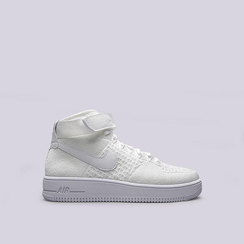 Кроссовки  Nike Air Force 1 Ultra Flyknit MidКроссовки lifestyle<br>Текстиль, синтетика, резина<br><br>Цвет: Белый<br>Размеры US: 11<br>Пол: Мужской