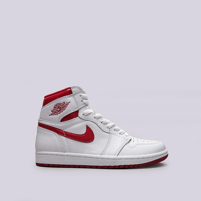Кроссовки  Jordan 1 Retro High OGКроссовки lifestyle<br>Кожа, синтетика, текстиль, резина<br><br>Цвет: Белый<br>Размеры US: 8.5;10;10.5;11;11.5;12;12.5;13;15<br>Пол: Мужской