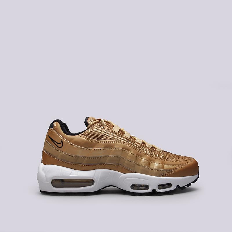 Кроссовки Nike Air Max 95 Premium QSКроссовки lifestyle<br>Синтетика, текстиль, резина<br><br>Цвет: Золотой<br>Размеры US: 8.5;9;9.5;10;10.5;11<br>Пол: Мужской