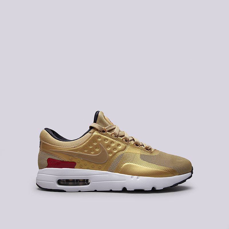 Кроссовки Nike Sportswear Air Max Zero QSКроссовки lifestyle<br>Текстиль, резина, пластик<br><br>Цвет: Золотой<br>Размеры US: 8;8.5;9;9.5;10;10.5;11;11.5;12<br>Пол: Мужской