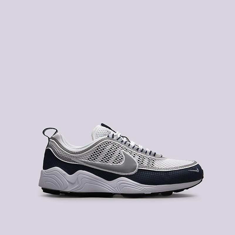 Кроссовки Nike Sportswear Air Zoom SPRDNКроссовки lifestyle<br>Текстиль, резина, пластик<br><br>Цвет: Белый, синий<br>Размеры US: 8;9;9.5<br>Пол: Мужской