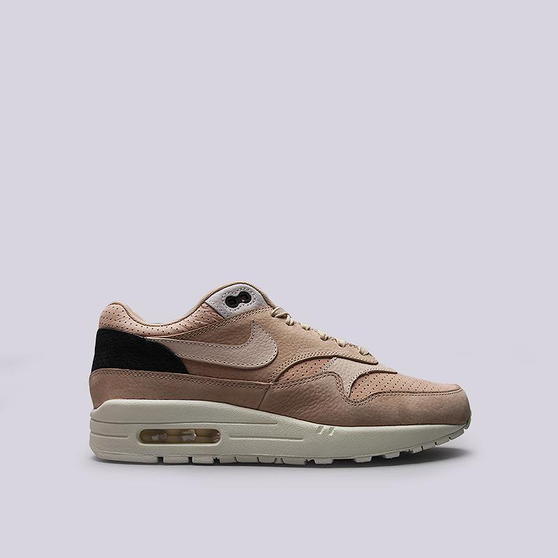 Кроссовки Nike Lab Air Max 1 PinnacleКроссовки lifestyle<br>Кожа, текстиль, резина<br><br>Цвет: Коричневый<br>Размеры US: 10.5<br>Пол: Мужской