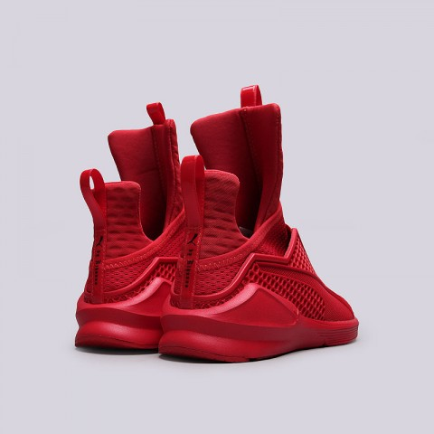 женские красные  кроссовки puma fenty trainer 18919303 - цена, описание, фото 4