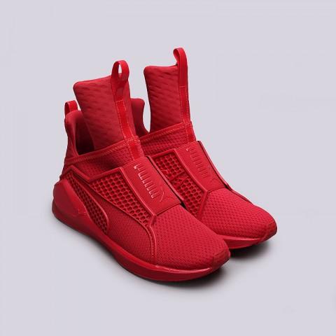 женские красные  кроссовки puma fenty trainer 18919303 - цена, описание, фото 3