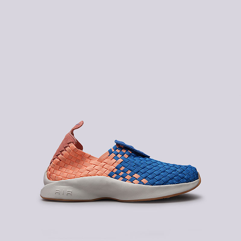 Кроссовки Nike Sportswear WMNS Air WovenКроссовки lifestyle<br>Текстиль, кожа, синтетика, резина<br><br>Цвет: Оранжевый, синий<br>Размеры US: 6;8<br>Пол: Женский