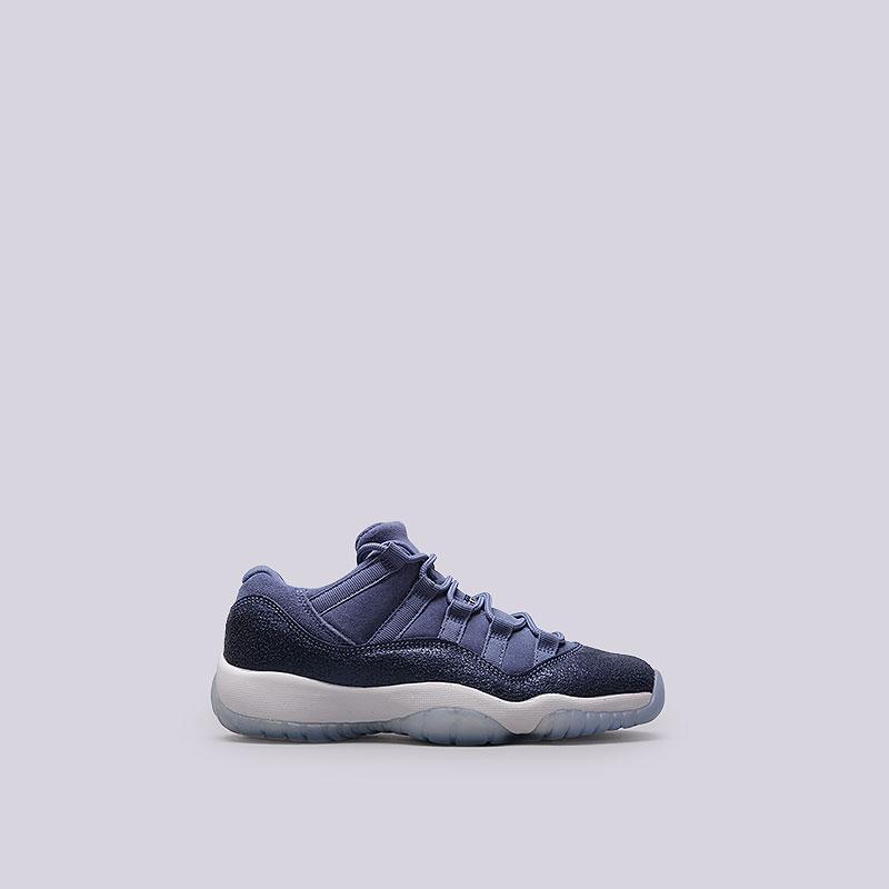 Кроссовки Jordan XI Retro Low GGОбувь детская<br>Кожа, текстиль, резина<br><br>Цвет: Синий<br>Размеры US: 3.5Y<br>Пол: Женский