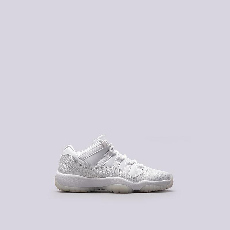 Кроссовки Jordan XI Retro Low PR HC GGОбувь детская<br>Кожа, синтетика, текстиль, резина<br><br>Цвет: Белый<br>Размеры US: 6Y;7.5Y<br>Пол: Женский