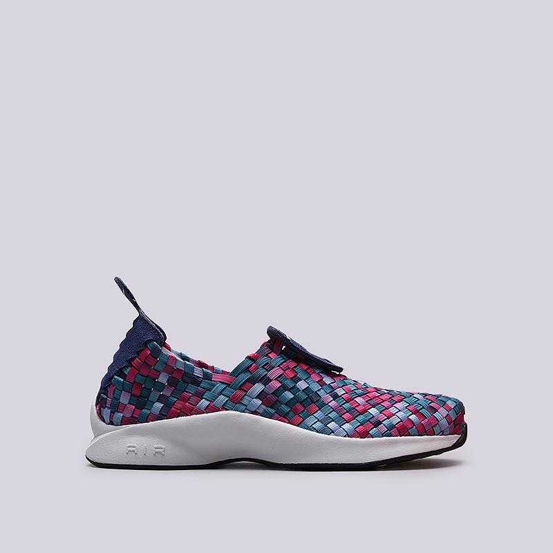 Кроссовки Nike Sportswear Air Woven PRMКроссовки lifestyle<br>Кожа, текстиль, резина<br><br>Цвет: Синий, розовый, фиолетовый<br>Размеры US: 7;9;10;12<br>Пол: Мужской