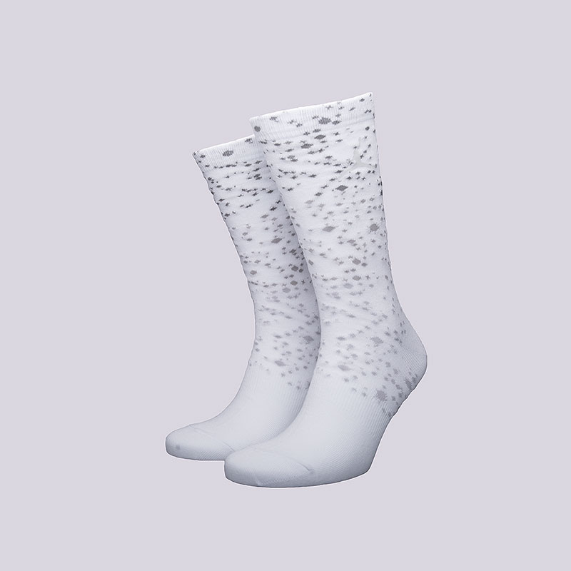 Носки Jordan Speckle CrewНоски<br>Хлопок, нейлон, эластан<br><br>Цвет: Белый<br>Размеры US: M;L;XL<br>Пол: Мужской