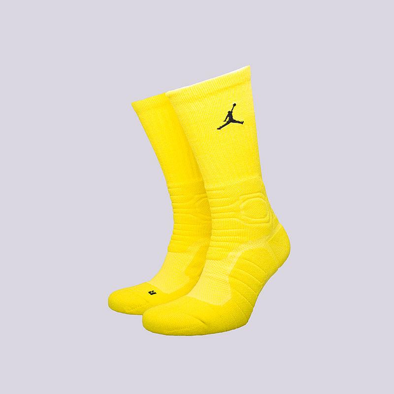 Носки Jordan Ultimate Flight CrewНоски<br>Полиэстер, нейлон, хлопок, эластан<br><br>Цвет: Жёлтый<br>Размеры US: M;L;XL<br>Пол: Мужской