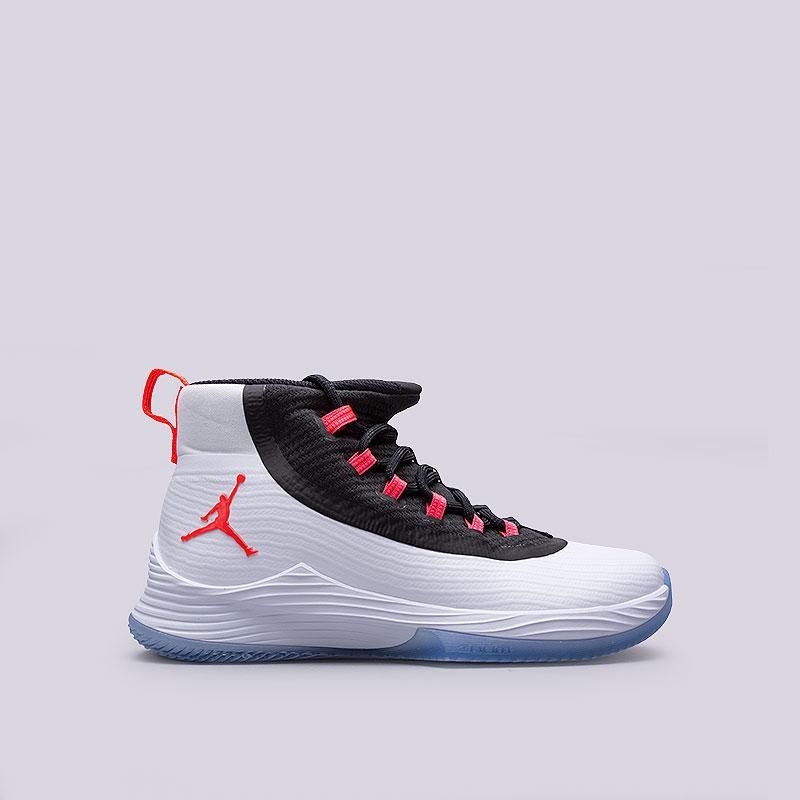 Кроссовки  Jordan Ultra Fly 2Кроссовки баскетбольные<br>Пластик, текстиль, резина<br><br>Цвет: Белый<br>Размеры US: 8;8.5;9;9.5;10;10.5;11;11.5;12;12.5<br>Пол: Мужской