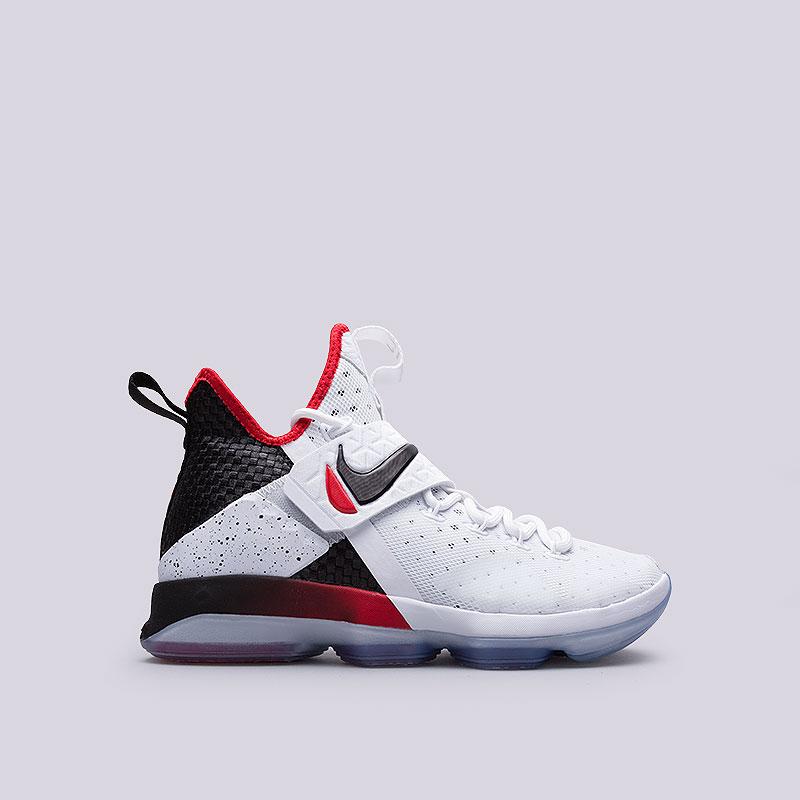 Кроссовки Nike Lebron XIVКроссовки баскетбольные<br>Текстиль, кожа, пластик, резина<br><br>Цвет: Белый<br>Размеры US: 7;7.5;8;11;11.5<br>Пол: Мужской