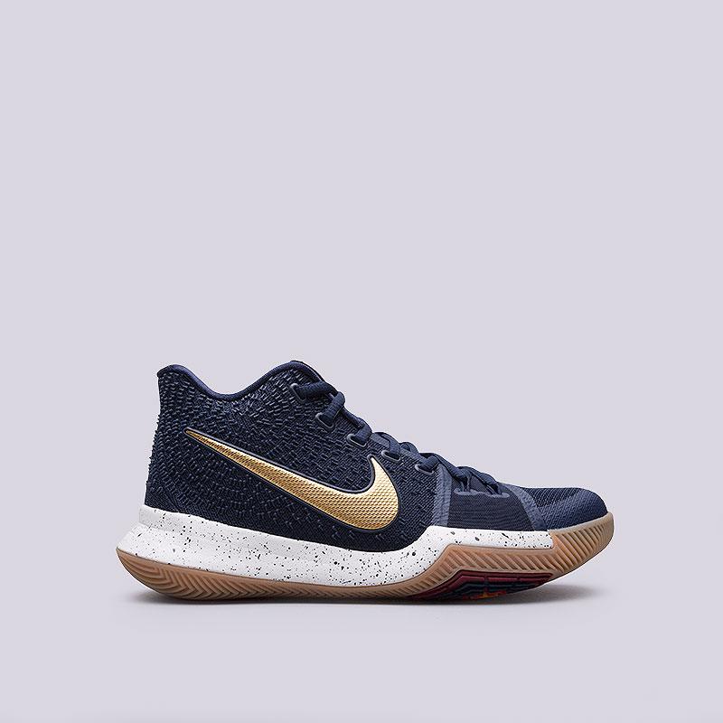 Кроссовки  Nike Kyrie 3Кроссовки баскетбольные<br>Текстиль, пластик, резина<br><br>Цвет: Синий<br>Размеры US: 9<br>Пол: Мужской