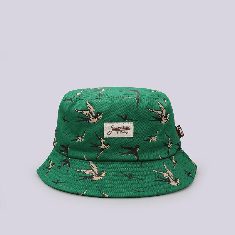Панама Запорожец heritage ЛасточкиКепки<br>Хлопок<br><br>Цвет: Зелёный<br>Размеры : S/M;L/XL