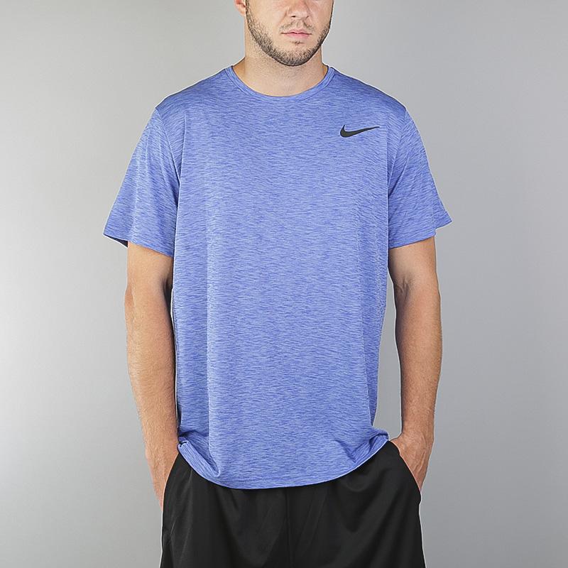 Футболка Nike M RT Top SS HPR DryФутболки<br>Полиэстер<br><br>Цвет: Синий<br>Размеры US: M<br>Пол: Мужской