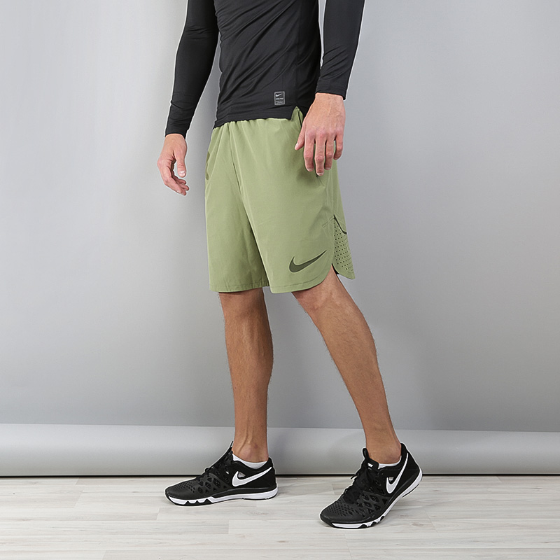 Шорты Nike Flex Training ShortsШорты<br>Полиэстер, эластан<br><br>Цвет: Зеленый<br>Размеры US: S;XL<br>Пол: Мужской