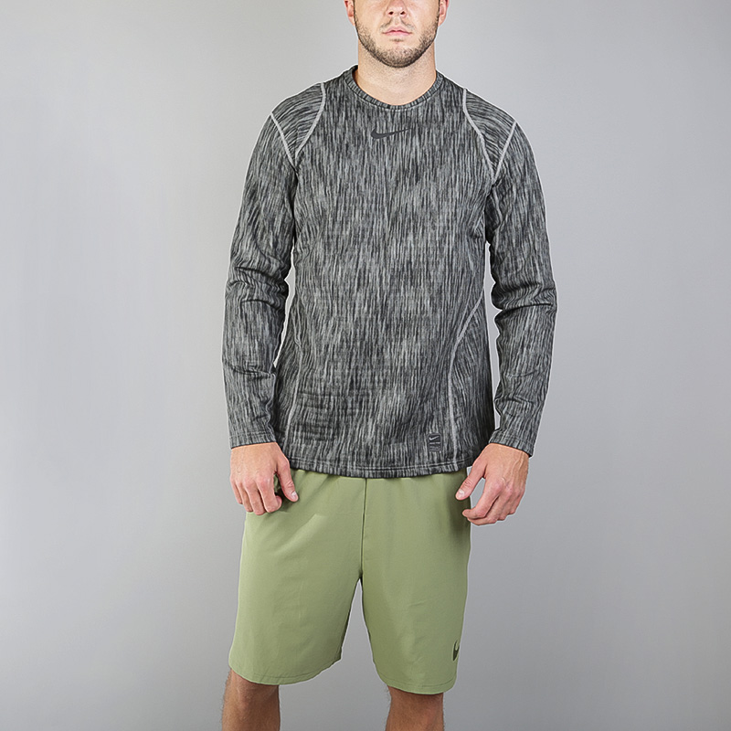 мужскую серую  футболка nike pro warm 824280-003 - цена, описание, фото 3