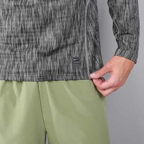 мужскую серую  футболка nike pro warm 824280-003 - цена, описание, фото 4