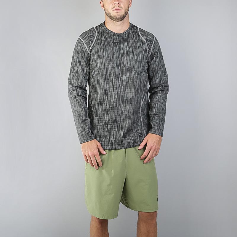 мужскую серую  футболка nike pro warm 824280-003 - цена, описание, фото 1