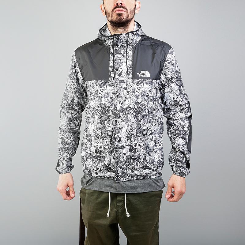 Куртка The North Face 1985 Mountain JKTКуртки, пуховики<br>100% полиэстер<br><br>Цвет: Черный, белый<br>Размеры US: S;L;XL<br>Пол: Мужской