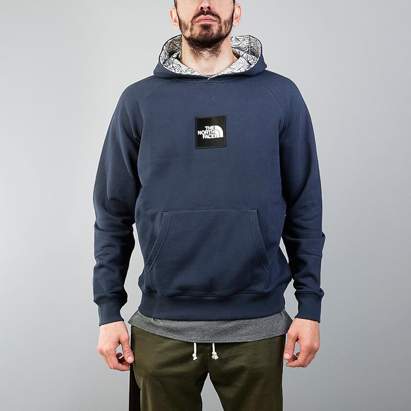 Толстовка The North Face Fine HoodieТолстовки свитера<br>100% хлопок<br><br>Цвет: Синий<br>Размеры US: L<br>Пол: Мужской