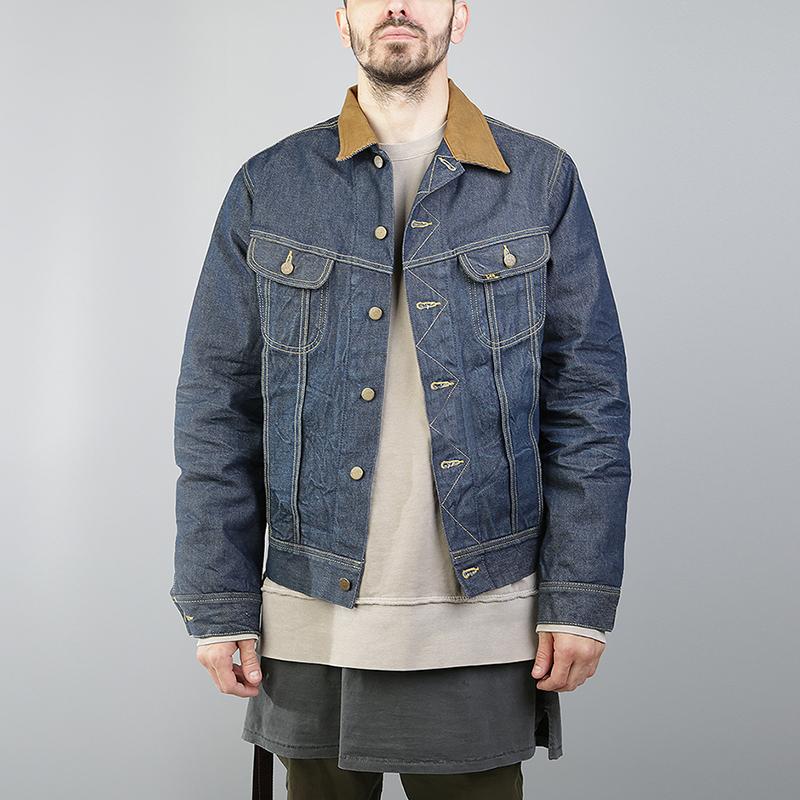 Куртка Lee Storm RiderКуртки, пуховики<br>Хлопок, полиэстер, шерсть<br><br>Цвет: Синий<br>Размеры : M<br>Пол: Мужской