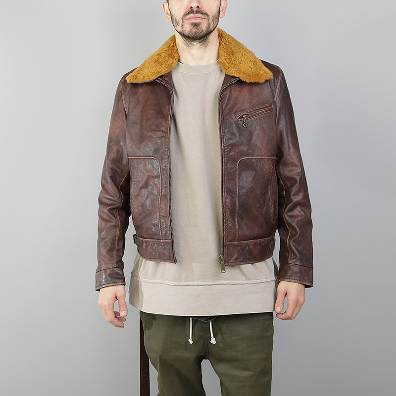 Куртка Lee Storm JacketКуртки, пуховики<br>Хлопок, полиэстер, акрил, шерсть, кожа<br><br>Цвет: Коричневый<br>Размеры : S<br>Пол: Мужской