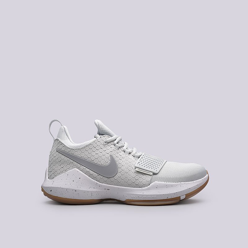Кроссовки  Nike PG 1Кроссовки баскетбольные<br>Кожа, текстиль, пластик, резина<br><br>Цвет: Серый<br>Размеры US: 8;11;12.5;13<br>Пол: Мужской