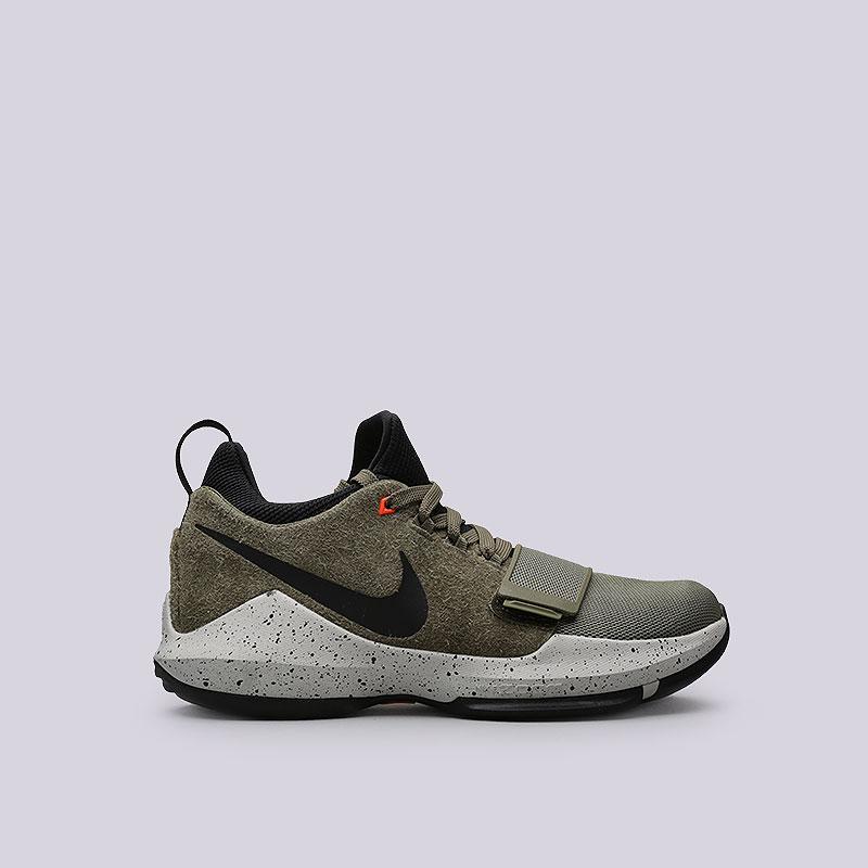 Кроссовки Nike PG 1 ElementsКроссовки баскетбольные<br>Кожа, текстиль, пластик, резина<br><br>Цвет: Зелёный<br>Размеры US: 8;9;10;11.5;12;12.5<br>Пол: Мужской