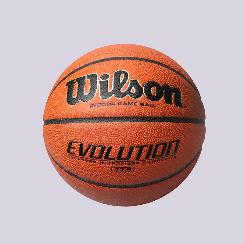 Мяч №5 Wilson EvolutionМячи<br>Резина<br><br>Цвет: Оранжевый<br>Размеры : 5