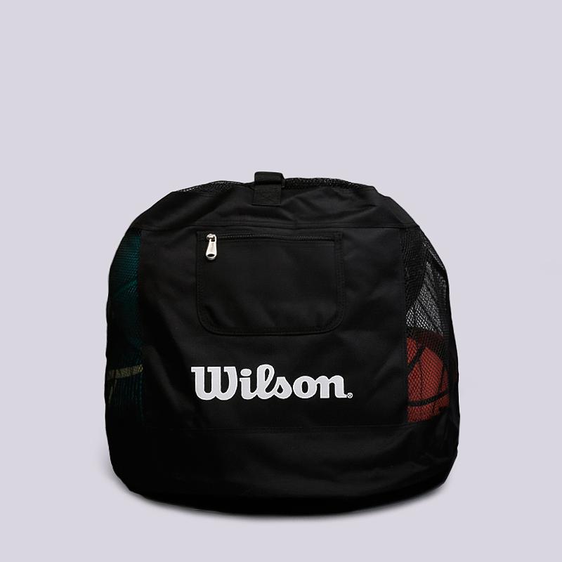 Сумка для мячей Wilson Ball BagСумки, рюкзаки<br>Полиэстер<br><br>Цвет: Черный<br>Размеры : OS