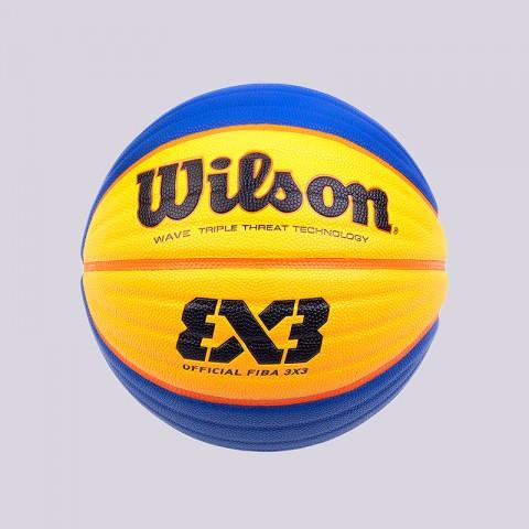 синий, желтый  мяч №6 wilson official fiba 3x3 WTB0533XB - цена, описание, фото 1