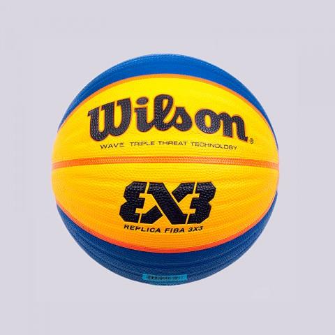 синий, желтый  мяч №6 wilson replica fiba 3x3 WTB1033XB - цена, описание, фото 1