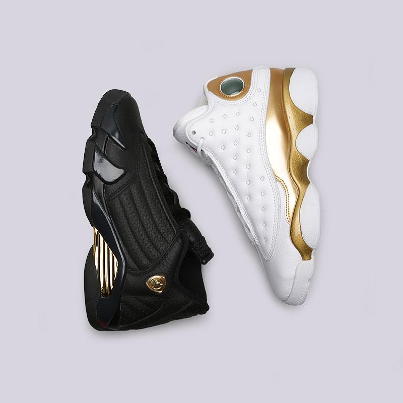 Кроссовки Jordan Finals Pack BGОбувь детская<br>Кожа, синтетика, текстиль, резина, пластик<br><br>Цвет: Белый, чёрный, золотой<br>Размеры US: 4Y;5Y<br>Пол: Детский