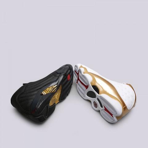 мужские белые, чёрные, золотые  кроссовки jordan dmp pack 897563-900 - цена, описание, фото 7