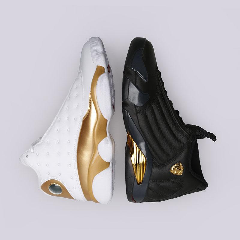 Кроссовки Jordan DMP PackКроссовки lifestyle<br>Кожа, текстиль, синтетика, резина, пластик<br><br>Цвет: Белый, чёрный, золотой<br>Размеры US: 9<br>Пол: Мужской