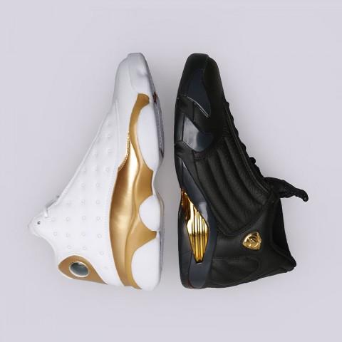 мужские белые, чёрные, золотые  кроссовки jordan dmp pack 897563-900 - цена, описание, фото 1