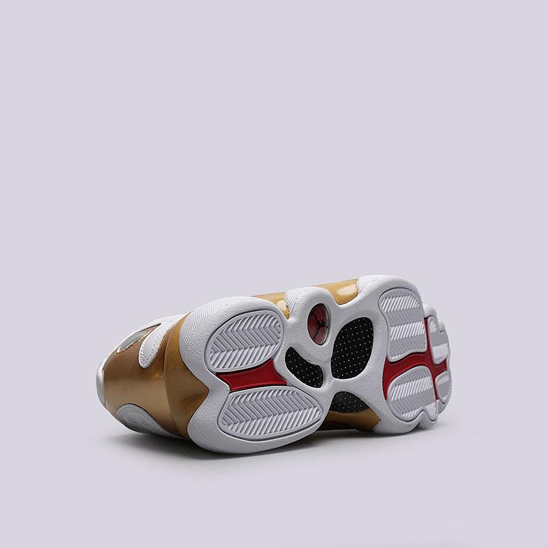 мужские белые, чёрные, золотые  кроссовки jordan dmp pack 897563-900 - цена, описание, фото 4
