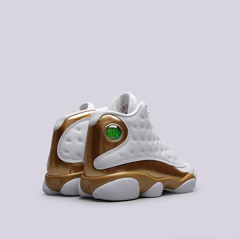 мужские белые, чёрные, золотые  кроссовки jordan dmp pack 897563-900 - цена, описание, фото 3