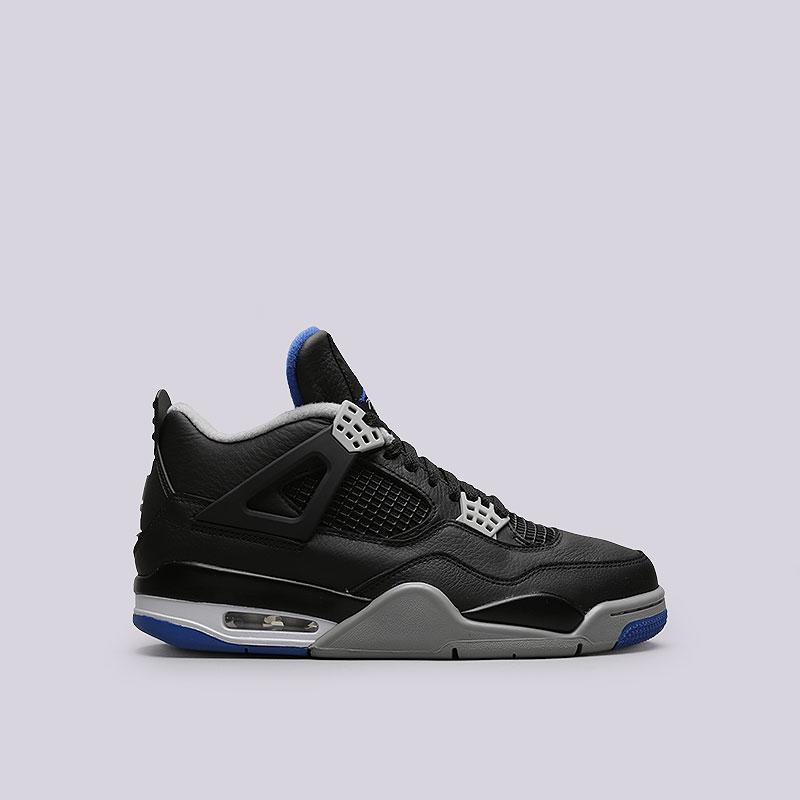Кроссовки Jordan IV RetroКроссовки lifestyle<br>Кожа, пластик, текстиль, резина<br><br>Цвет: Черный<br>Размеры US: 8<br>Пол: Мужской
