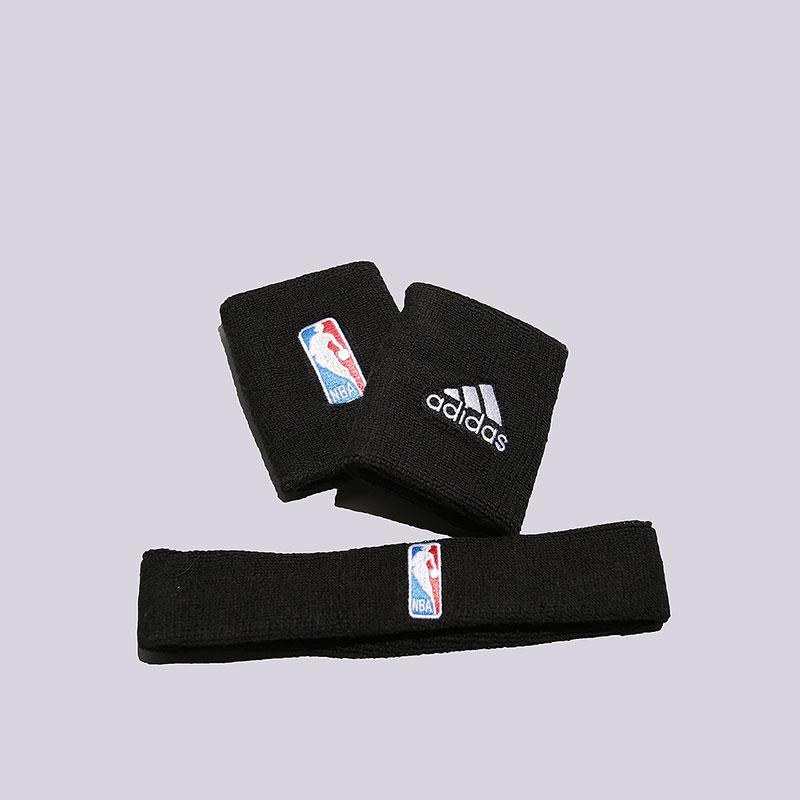 Напульсник adidas NBA WB+HBДругое<br>Хлопок, акрил, полиэстер, эластан<br><br>Цвет: Черный<br>Размеры UK: 1SIZE