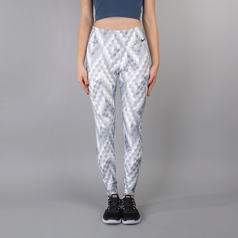 Леггинсы Nike Power Legend TrainingБрюки и джинсы<br>88% полиэстер, 12% эластан<br><br>Цвет: Белый, серый<br>Размеры US: XS;S;M;L<br>Пол: Женский