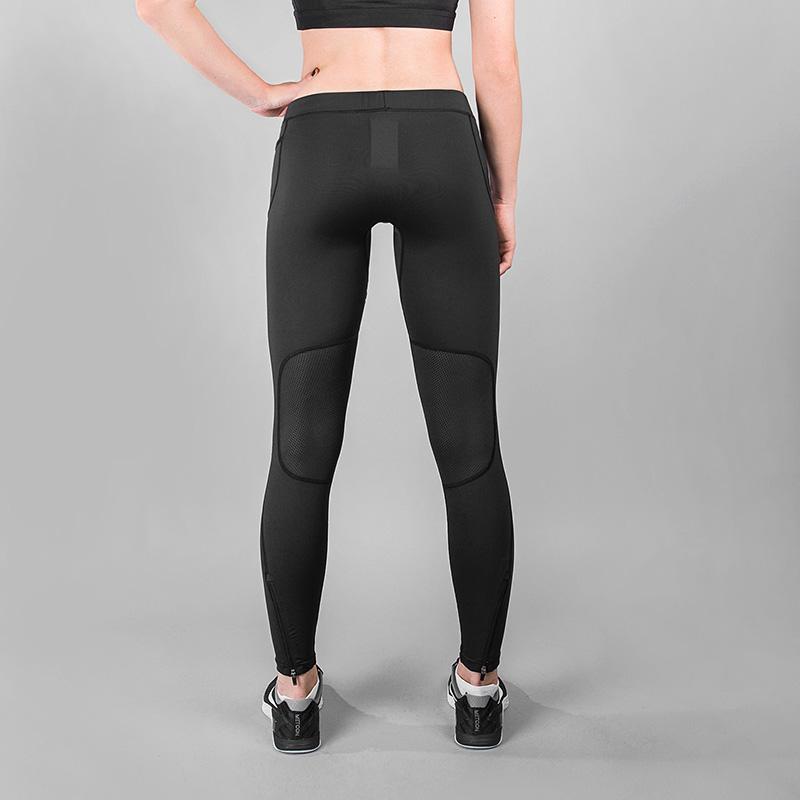 женские черные  тайтсы k1x wmns core practise tights black 3163-4600/0001 - цена, описание, фото 3