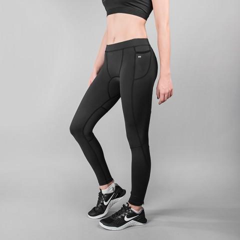 женские черные  тайтсы k1x wmns core practise tights black 3163-4600/0001 - цена, описание, фото 1
