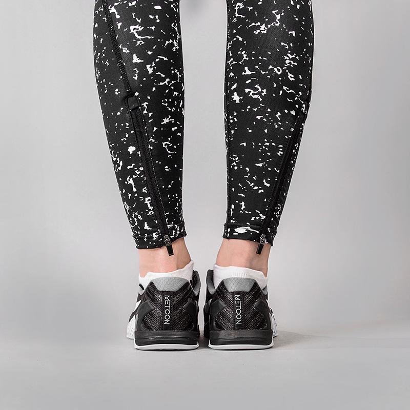 женские черные  тайтсы k1x wmns core practise tights speckle 3163-4601/0133 - цена, описание, фото 4